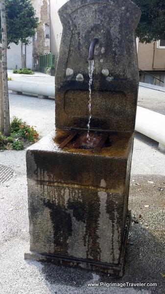 Fountain by a Church in Santiago de Compostela