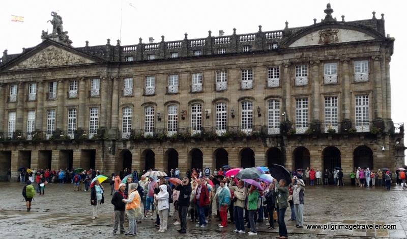 Obradoiro Square, South of the Cathedral of Santiago de Compostela, Galicia, Spain
