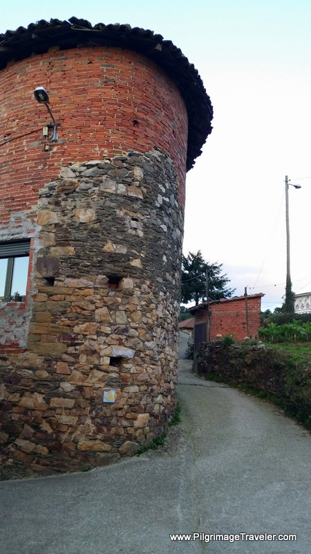 Building with a Rounded Corner in La Pereda, Camino de Santiago, Asturias, Spain