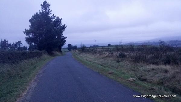 walking toward Arnade, Camino Primitivo