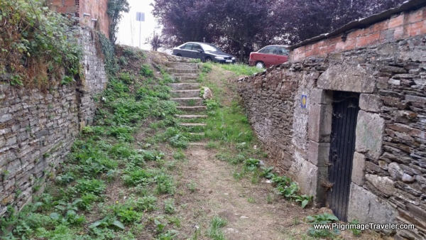 The Stairway to the Ronda do Carme in Lugo, Spain