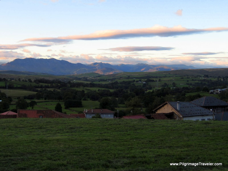 Early Morning View of the Cantabrian Mountains, Camino de Santiago, Asturias, Spain
