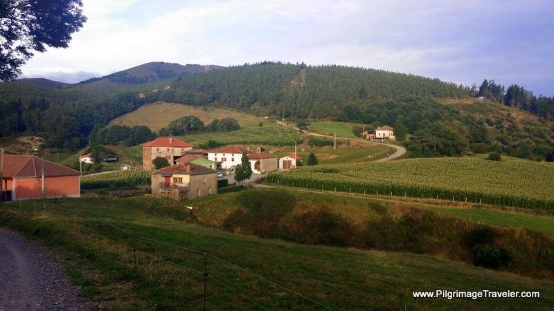 Camino de Santiago into the Hamlet of La Mortera, Asturias, Spain