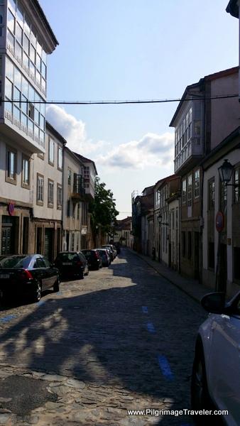 Rúa dos Loureiros, the Final Steps, Camino Inglés