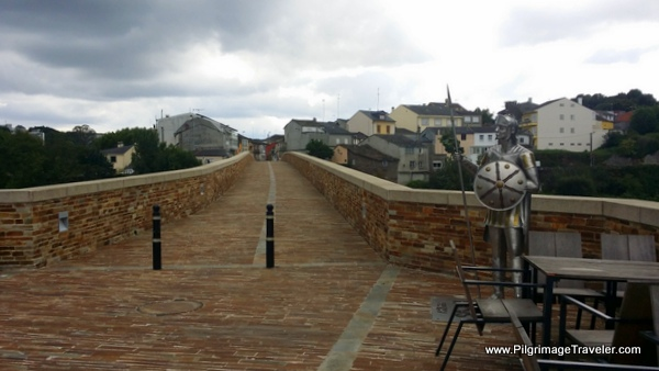 The Camino Primitivo Footbridge Across the Río Minho in Lugo, Spain