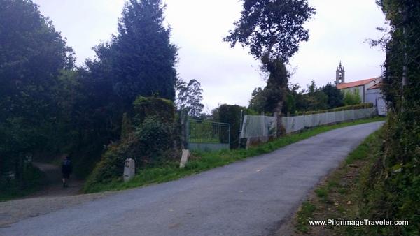 Turn Left here after Vilouriz, Camino Primitivo