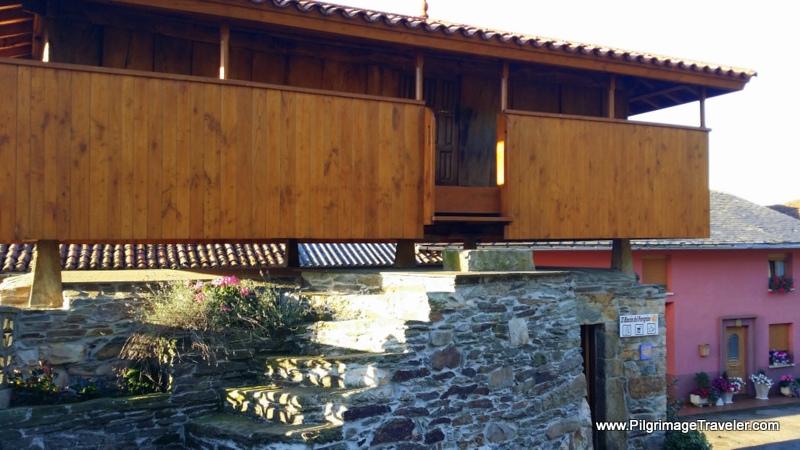 Horreo Rest Stop Walking Into Bedures, Camino Primitivo, Asturias, Spain