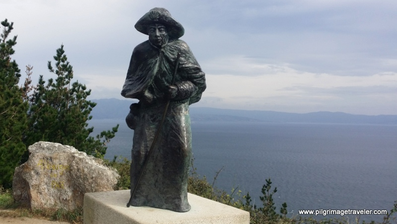 The Famous Pilgrim Statue Along the Camino Finisterre