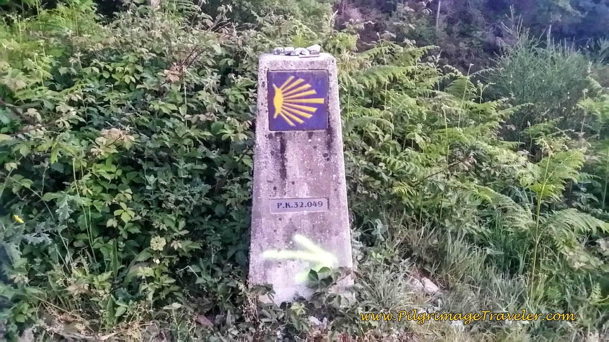 32 KM Waymark on Day Twenty-Four, Camino Portugués