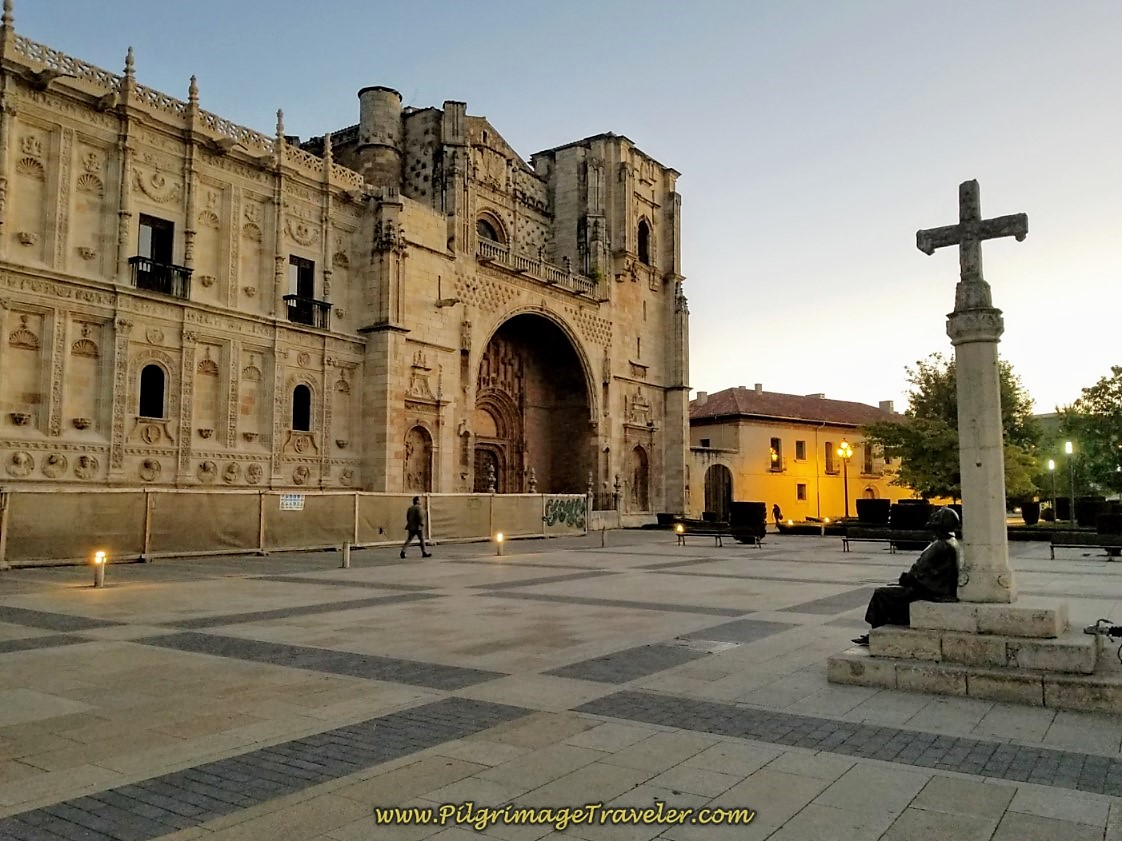 Plaza San Marcos ~ Start of the Camino de San Salvador in León