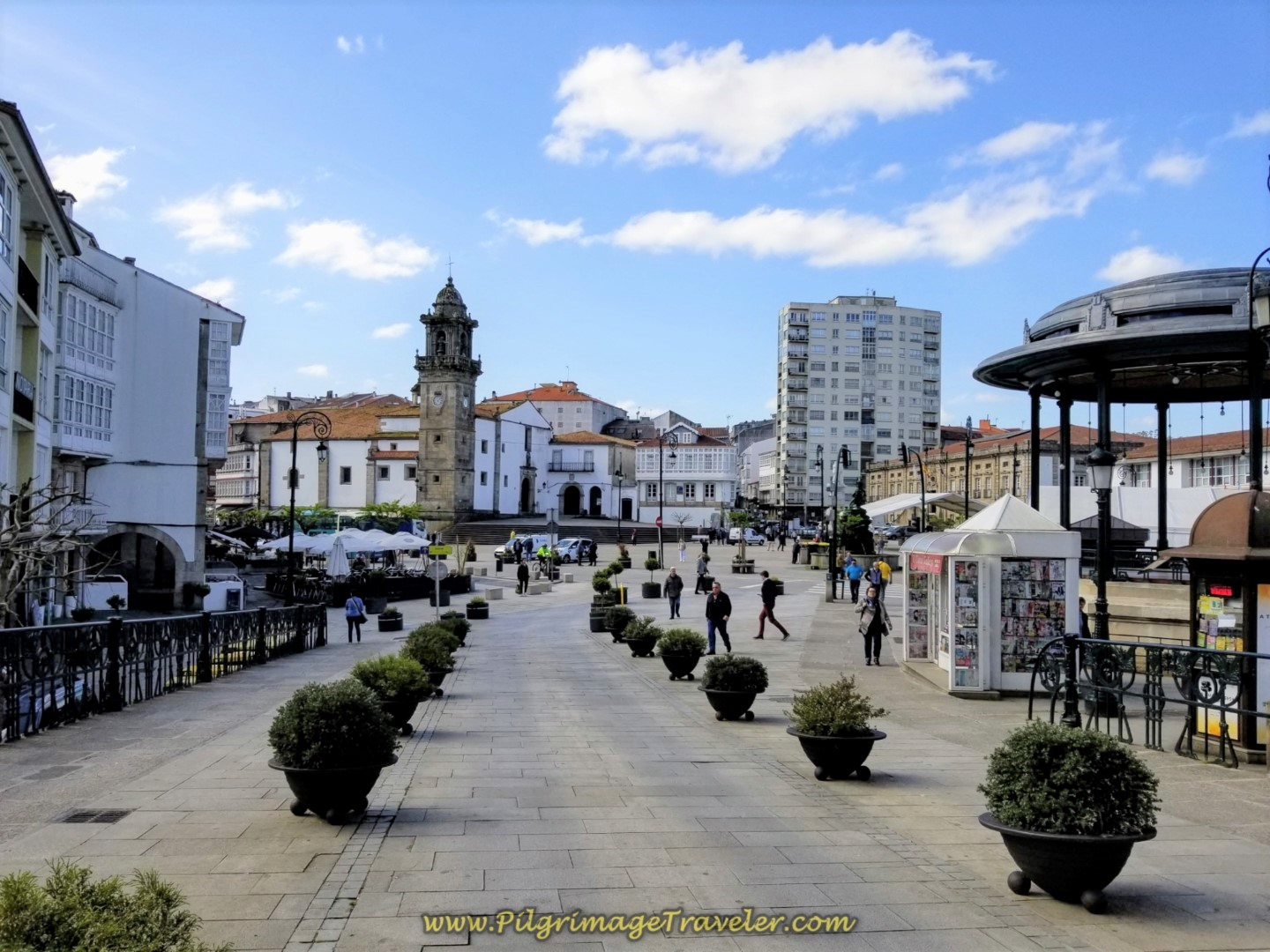 Central Square of Betanzos on day five of the Camino Inglés