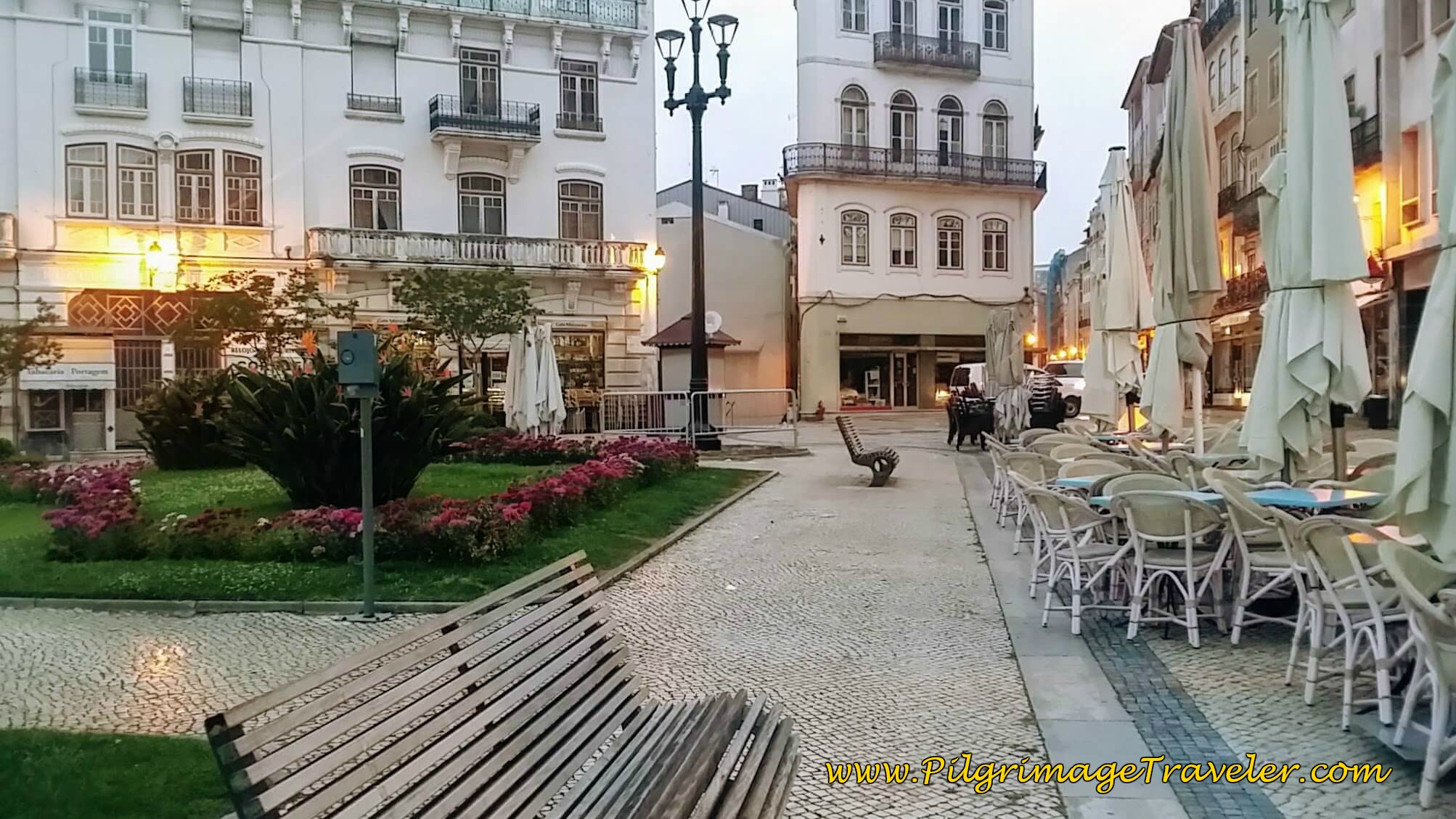 Largo da Portagem at Dawn, Coimbra, Portugal