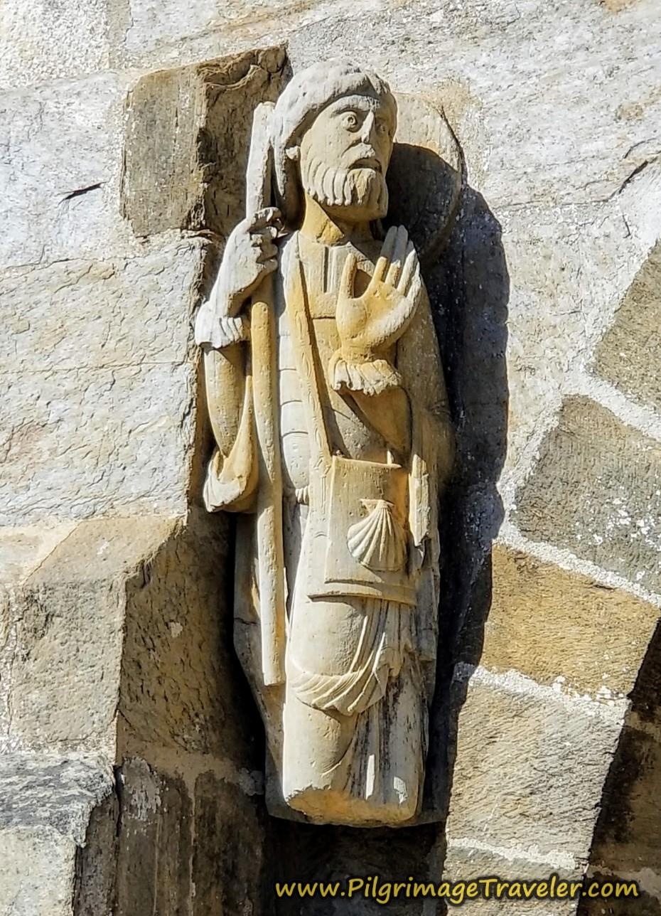 Famous Statue of Santiago, Oldest Known Depiction as a Pilgrim, Santa Marta de Tera