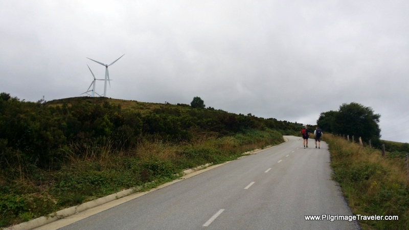 Road Climbs the Ridge to the Windmills, La Mesa, Spain