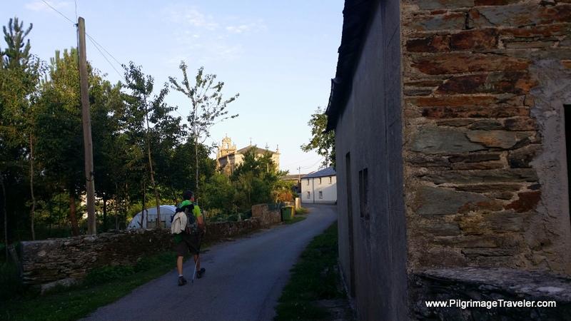 Walking Into Vilabade, Galicia, Spain