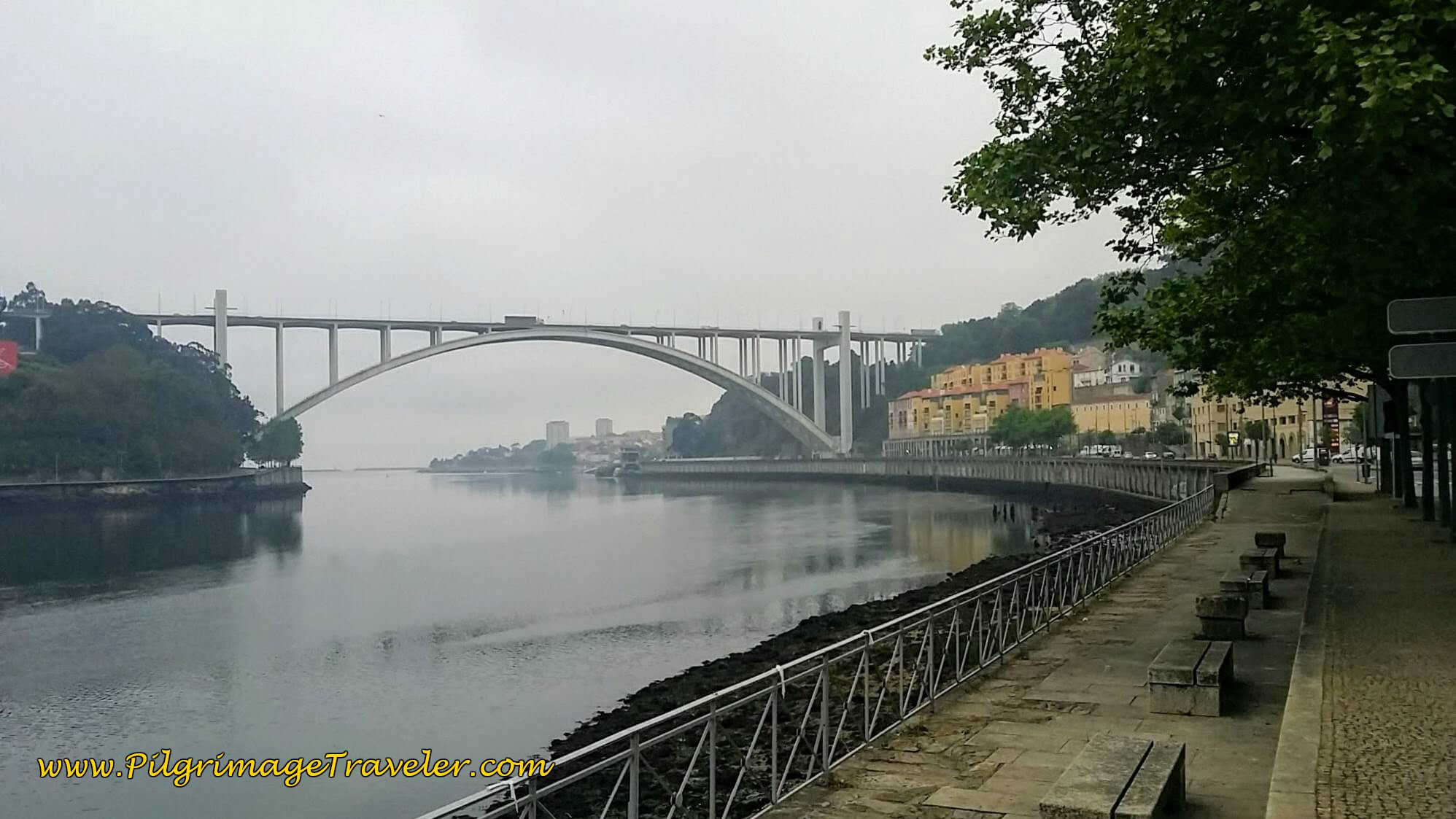 Ponte da Arrábida in Porto on the Portuguese Way along the Sendal Litoral