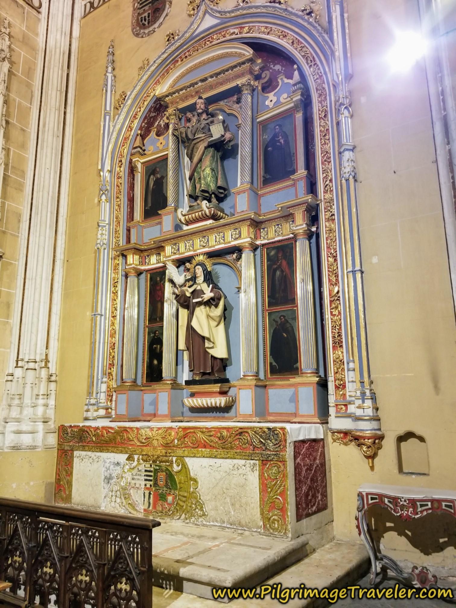 Chapel to Santiago and Santa Teresa, Catedral de Salamanca