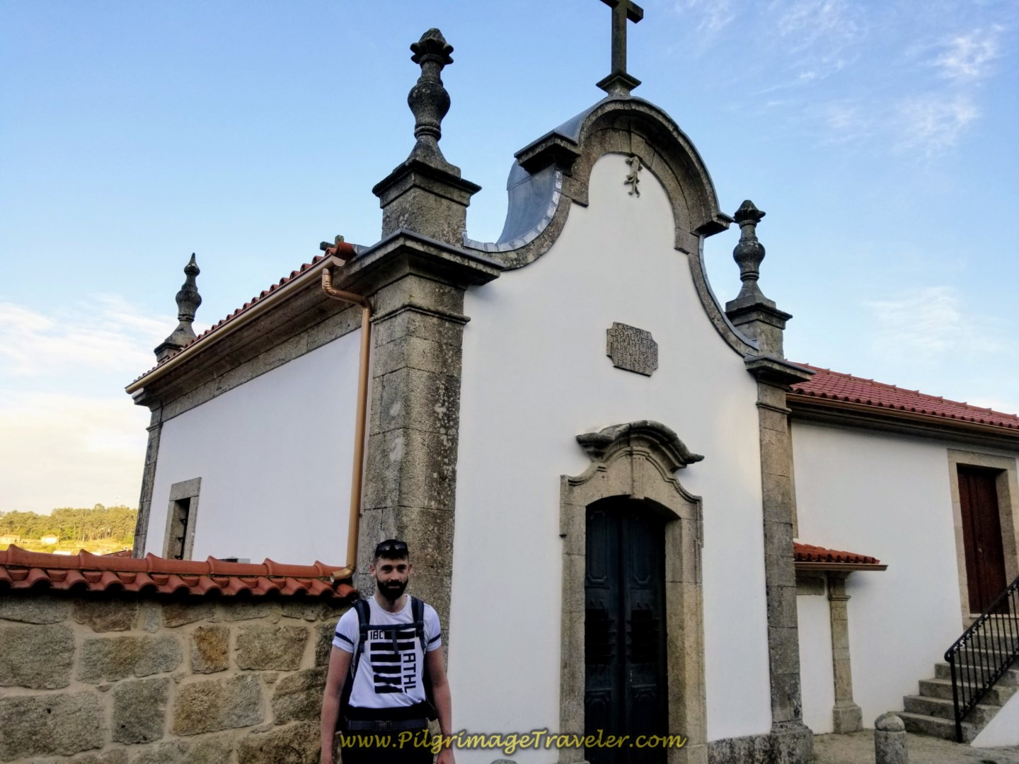 Borut by the Capela in Pecene on day nineteen on the Central Route of the Portuguese Camino