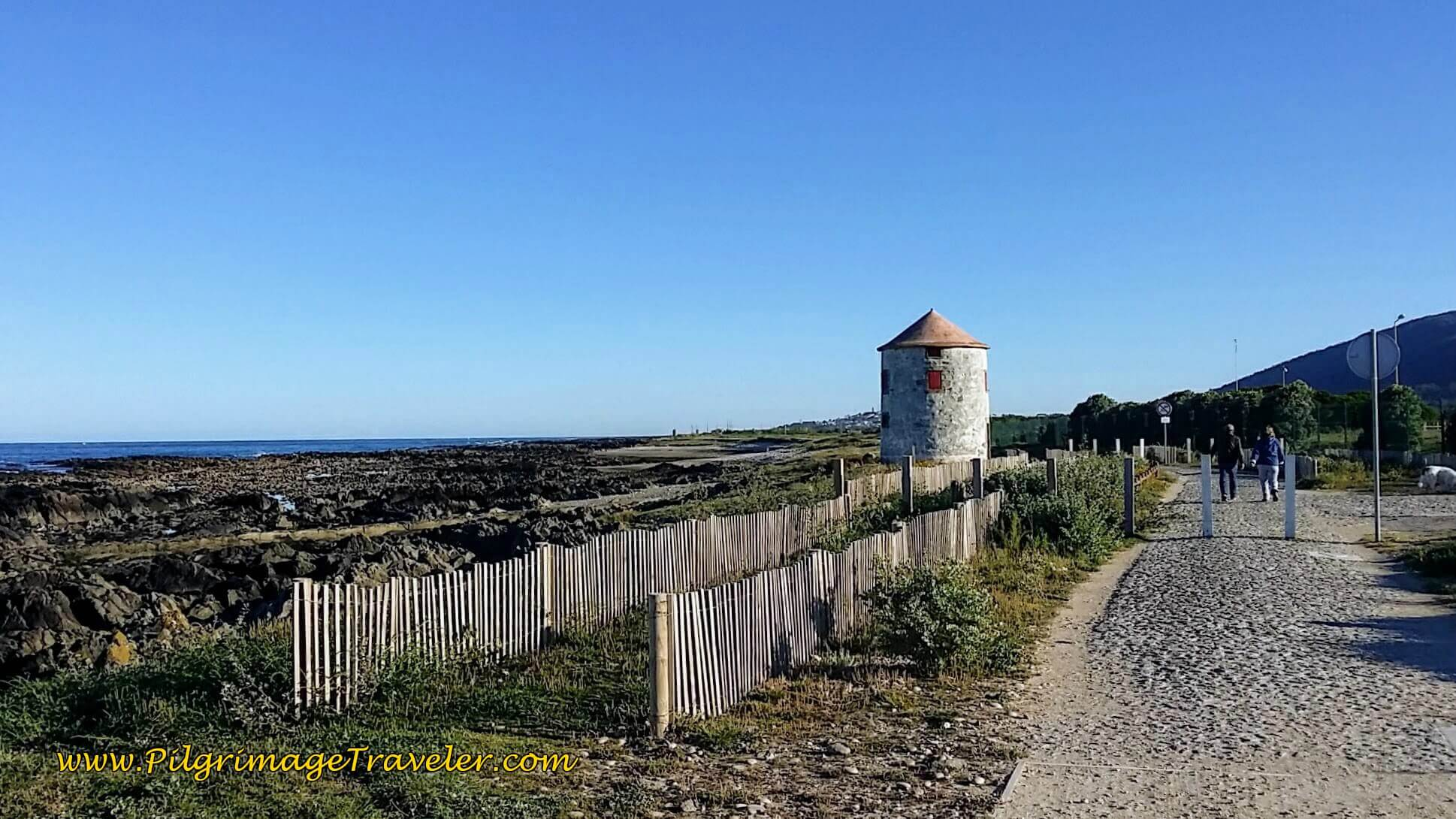 First Windmill on the Senda Litoral Path on day eighteen of the Camino Portugués on the Senda Litoral