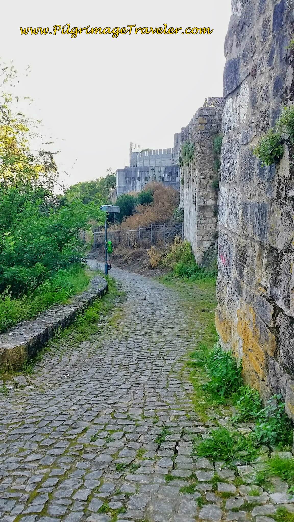 Following the Town Wall from the Hilltop in Santarém