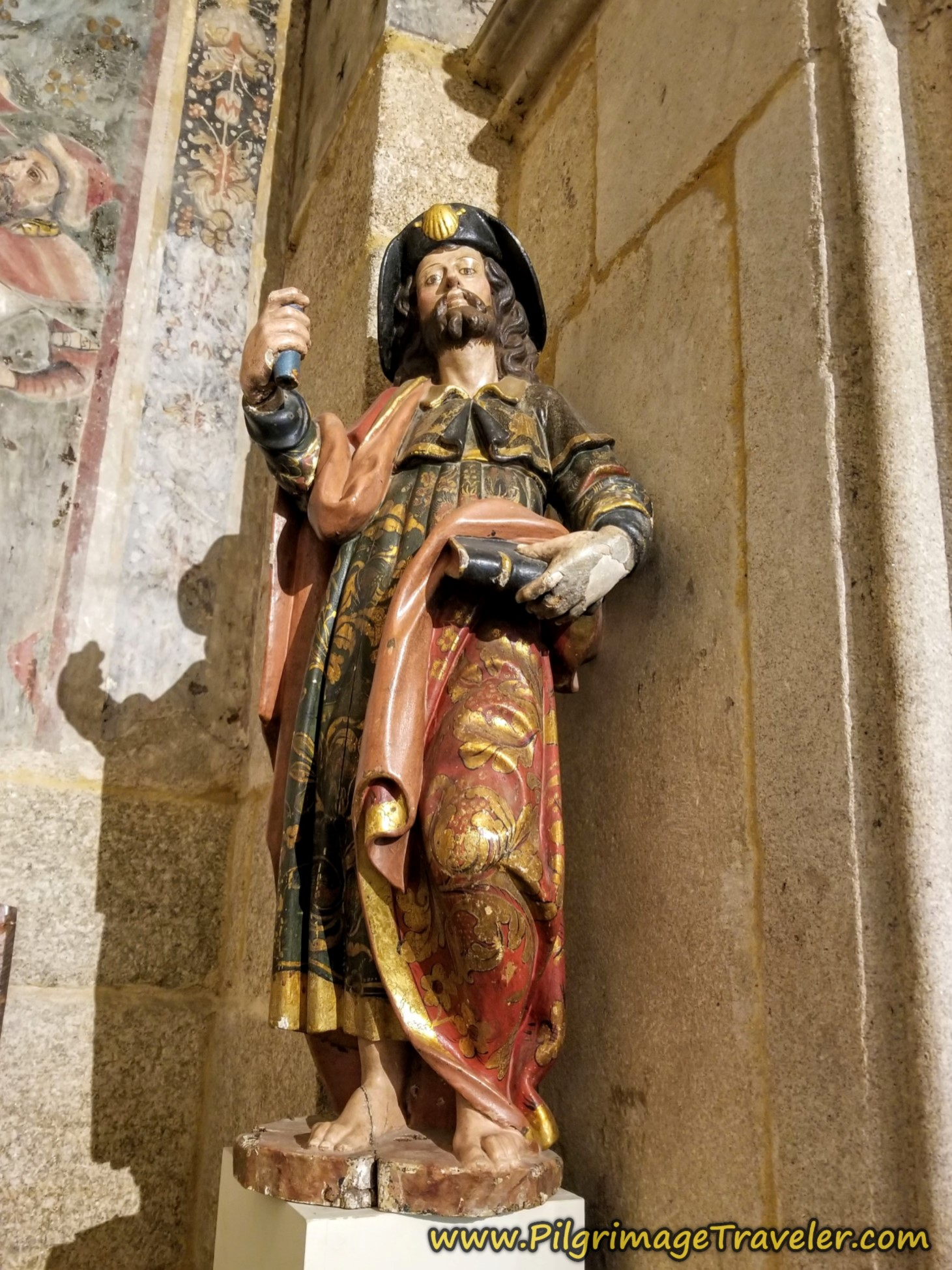 Santiago Sculpture, Cathedral in Ourense, Spain