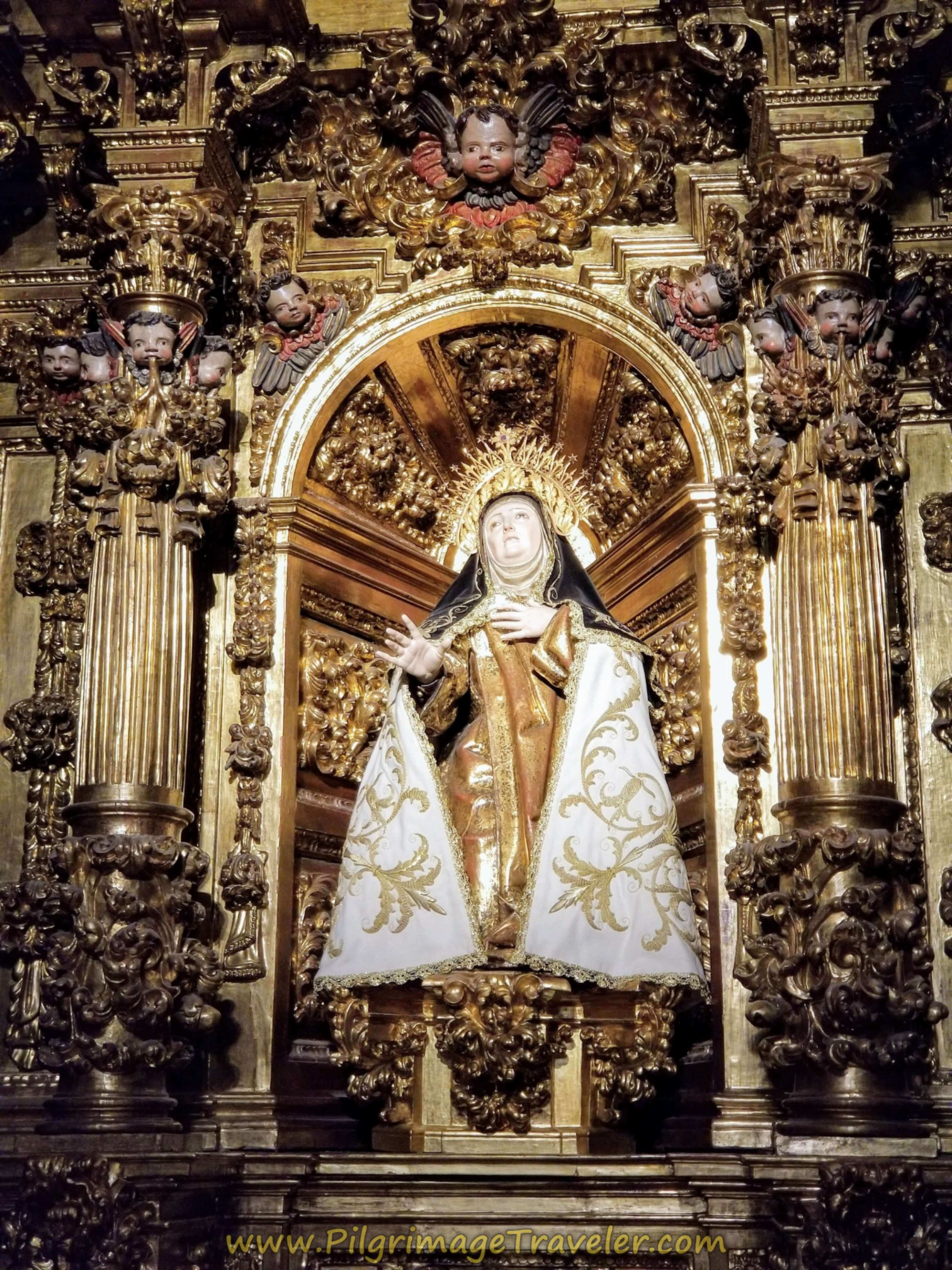 Side Altar Close-Up, Convento de Santa Teresa de Jesús