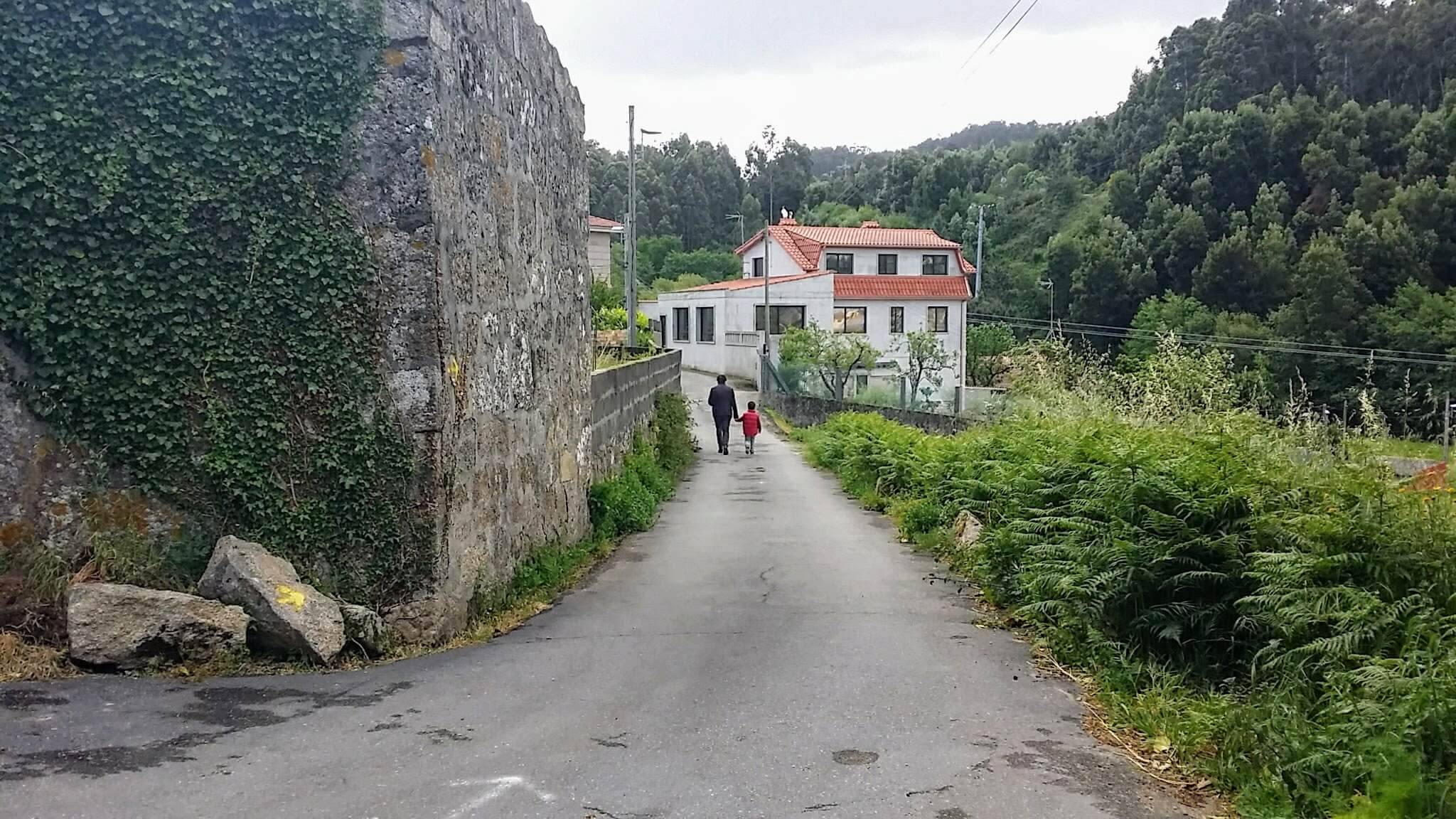 Walking Along the Camiño Rodeira on day twenty-one of the Camino Portugués