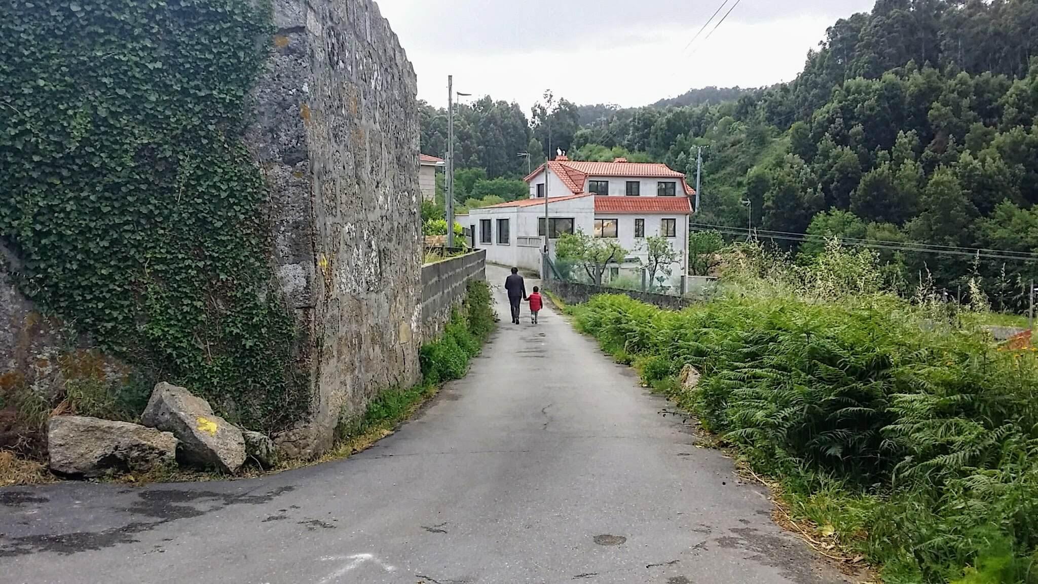 Walking Along the Camiño Rodeira on day twenty-one of the Camino Portugués