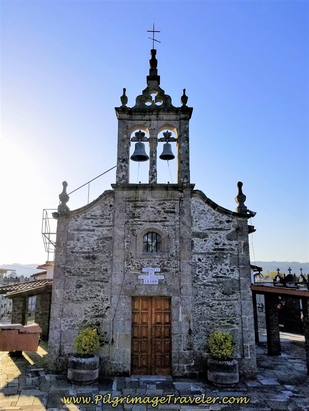 Iglesia de Santa Eulalia de Leiro on day six of the Camino Inglés