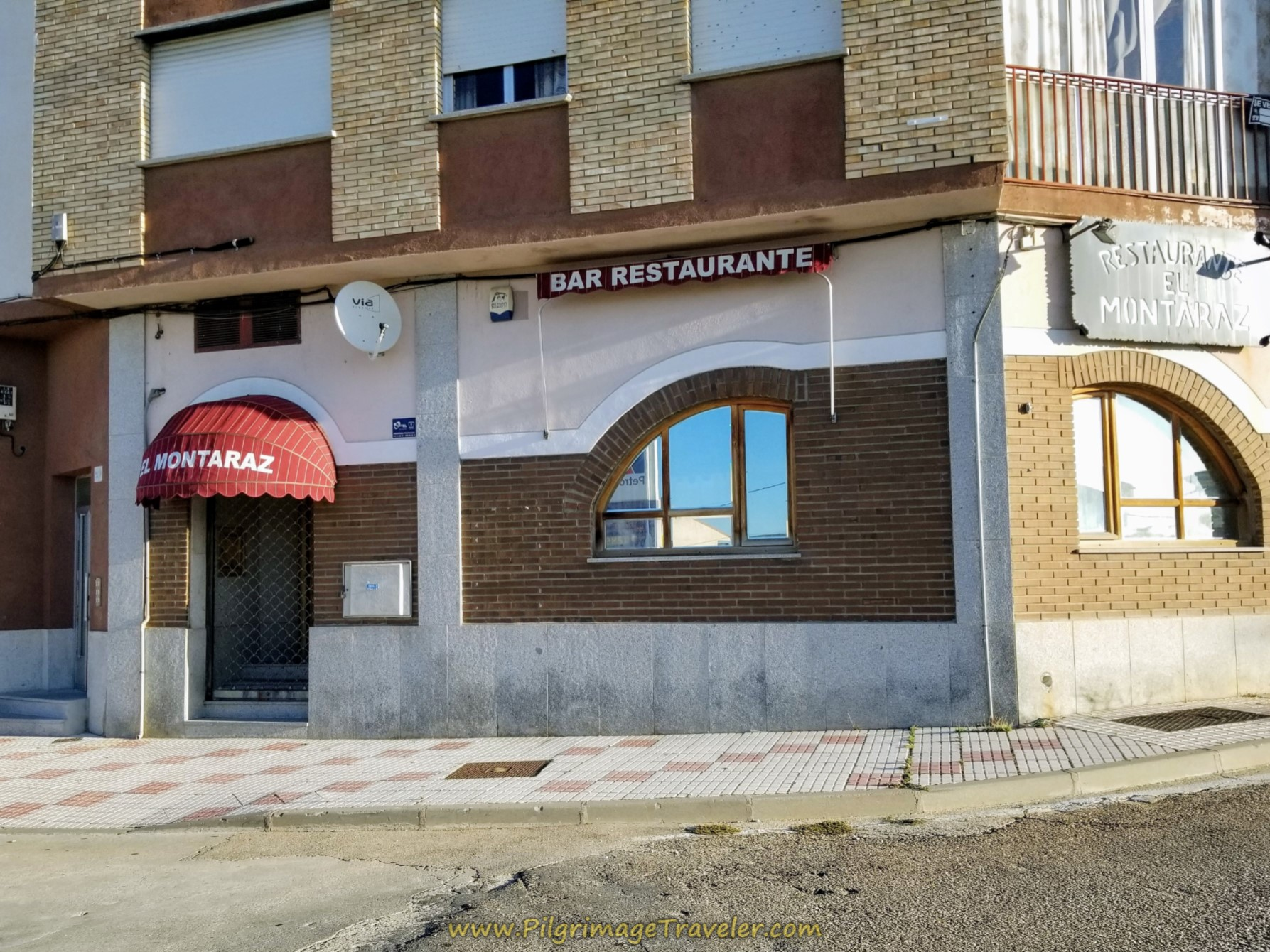 Restaurante Montaraz on day five of the Camino Teresiano.