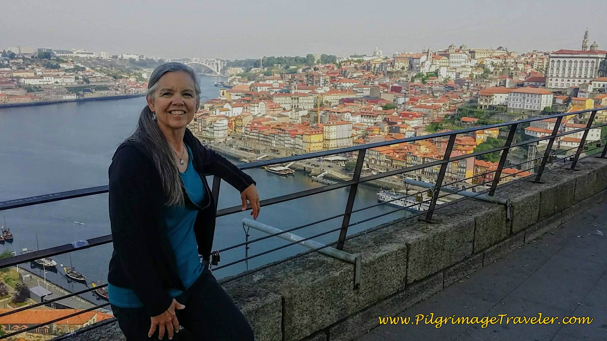 Elle Taking in the Views of Porto, Portugal