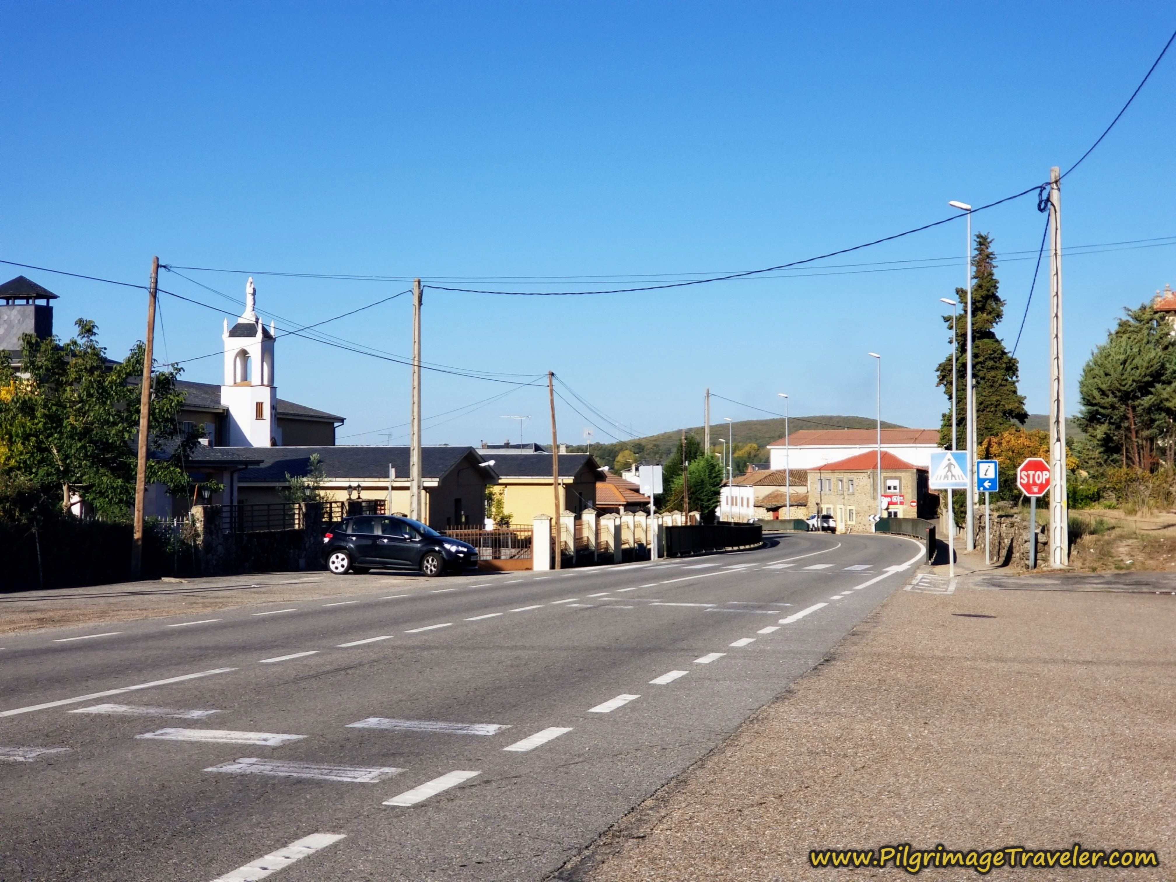 Entering the Center of Town on the Camino Sanabrés from Rionegro del Puente to Entrepeñas