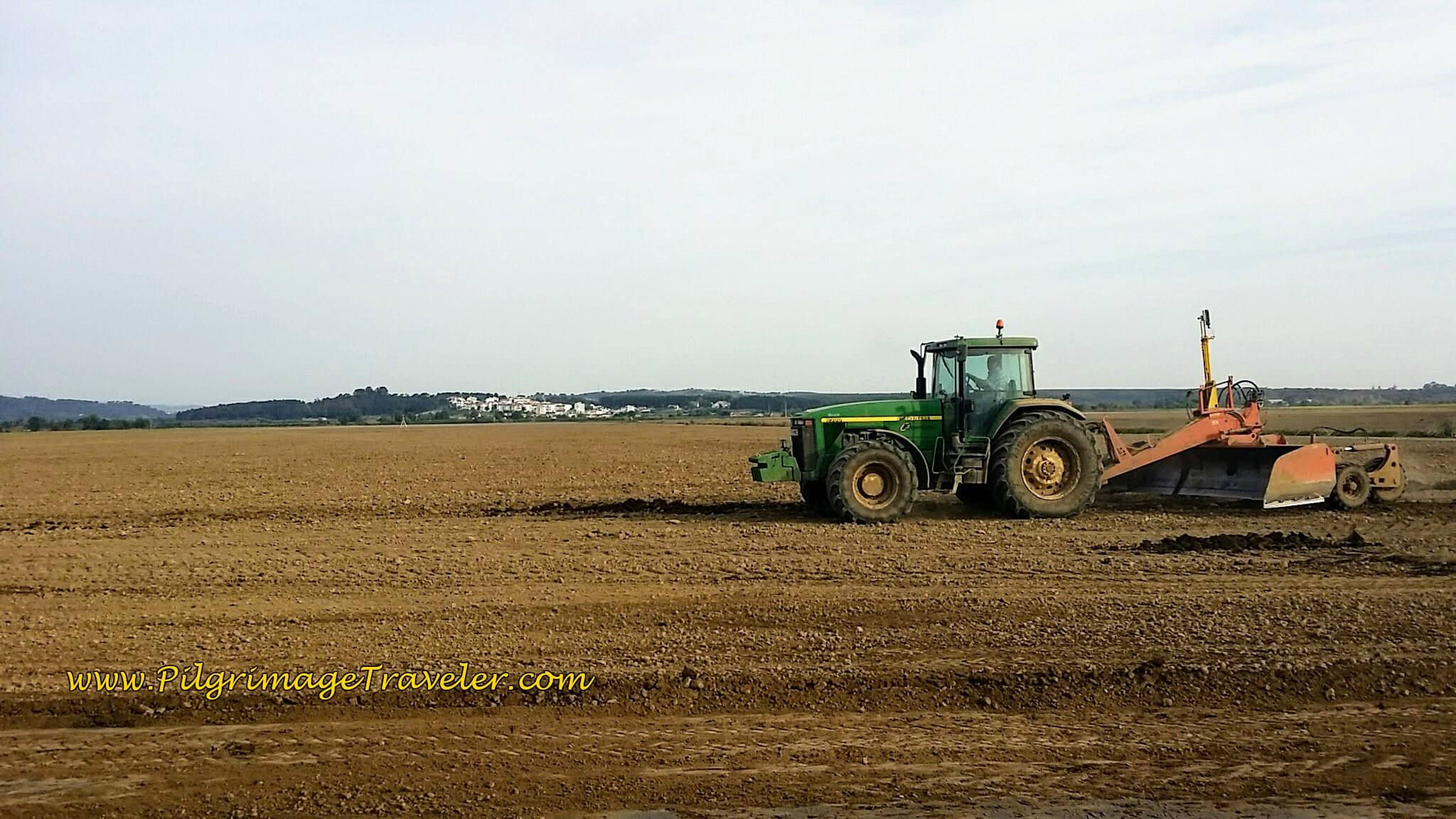 Tractor In Field Planting : Day three on the camino portugués