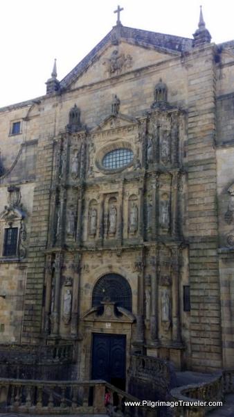 Church in the Praza de San Martiño, Old Santiago de Compostela on the English Way
