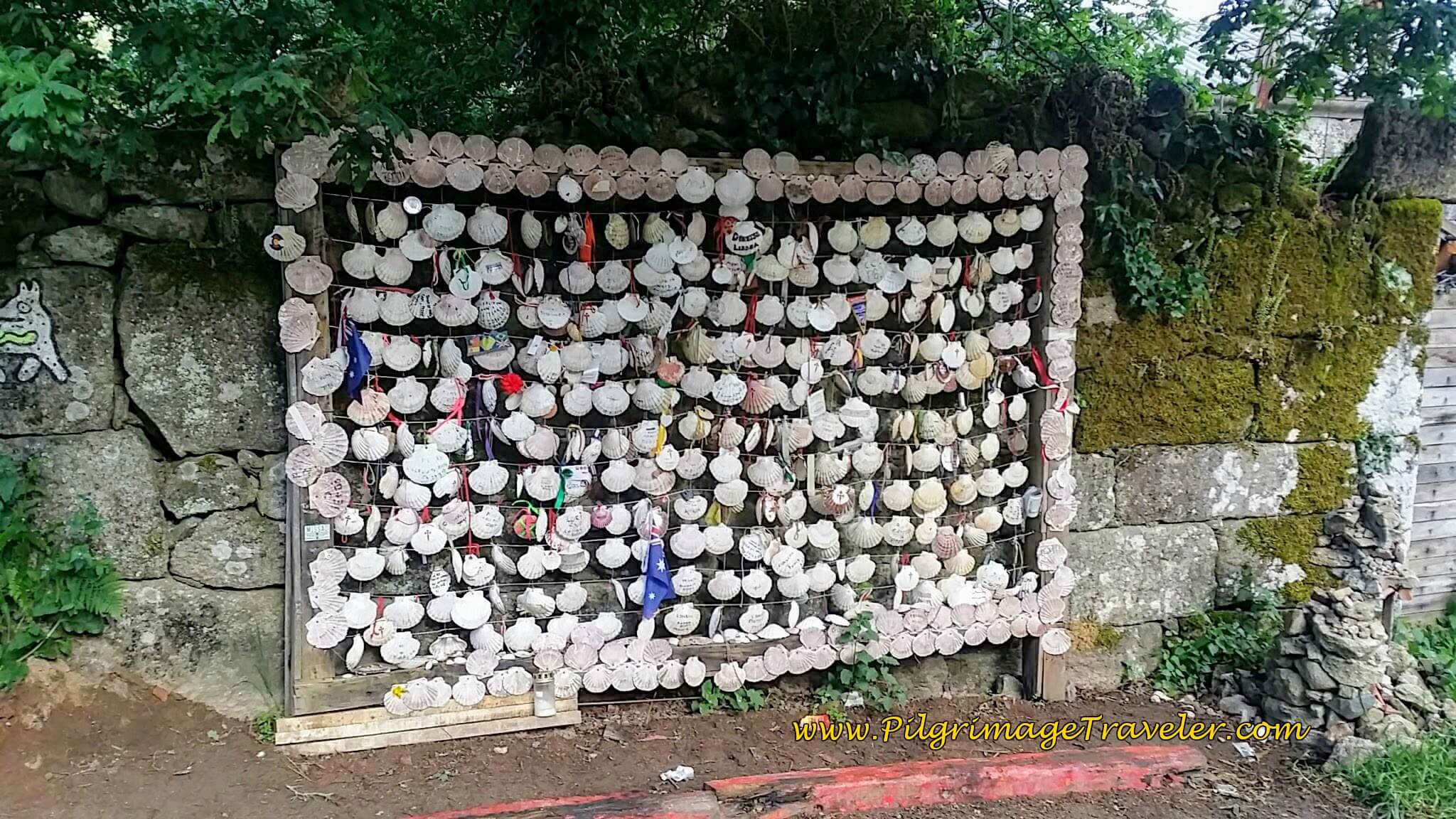 Commemorative Wall of Shells, day twenty-two on the Camino Portugués