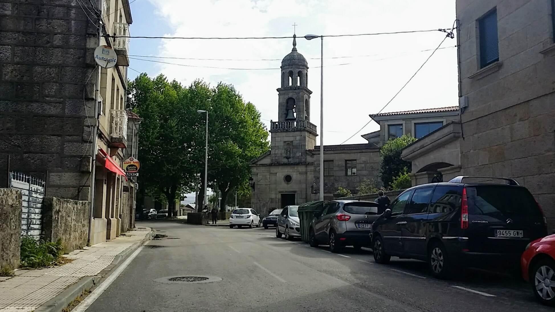 Walk by the Parroquia de San Andrés de Comesaña on day twenty-one of the Camino Portugués