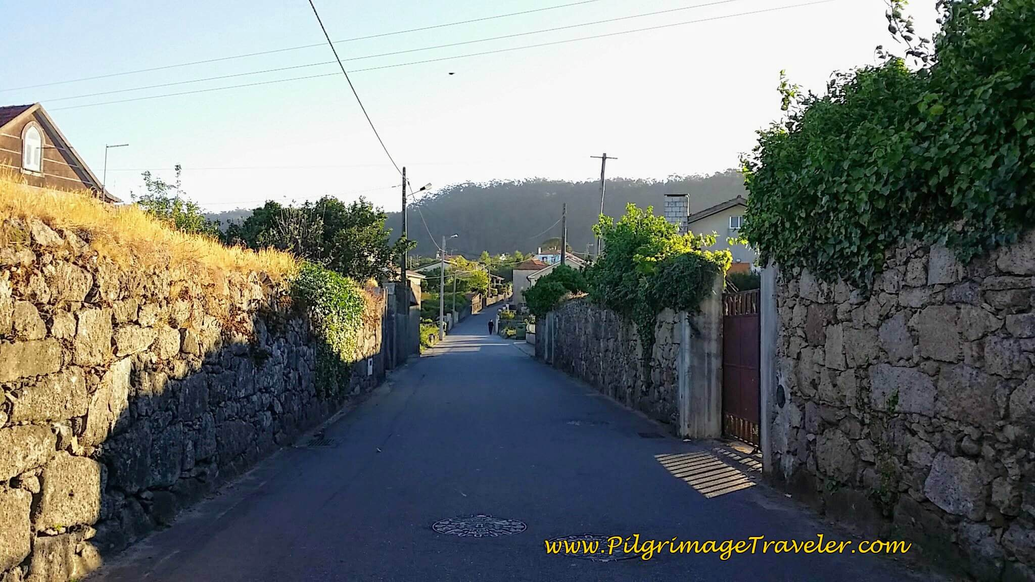 Rua Conde de Madimba, Just Past Church in Marinhas on day seventeen of the Camino Portugués