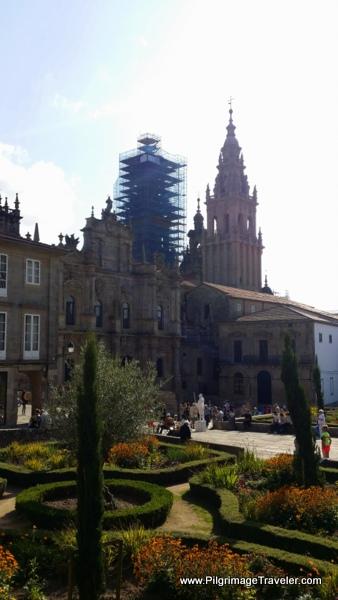 Praza da Inmaculada on the final steps of the English Way