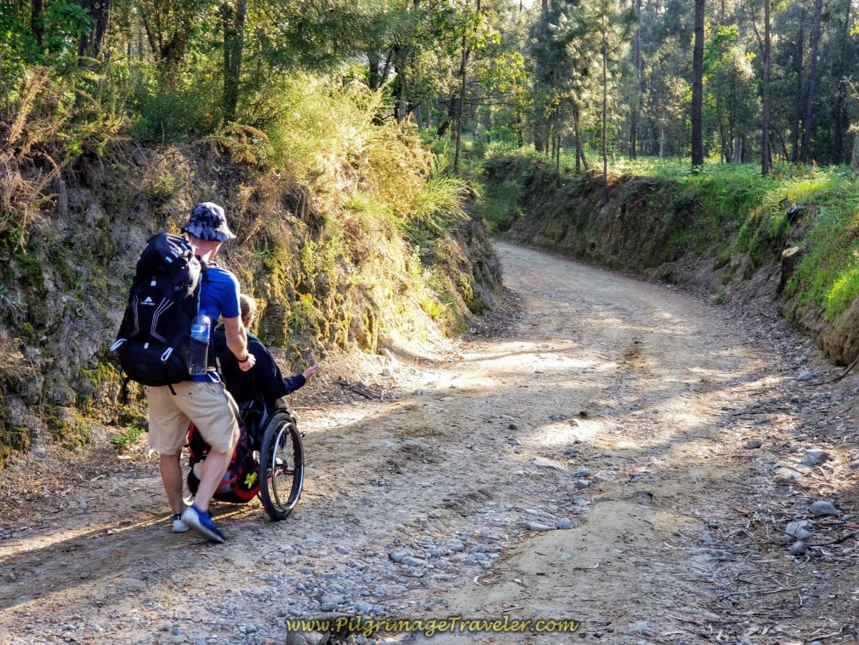 Leaving Vila Boa on Rough Cobblestone Lane