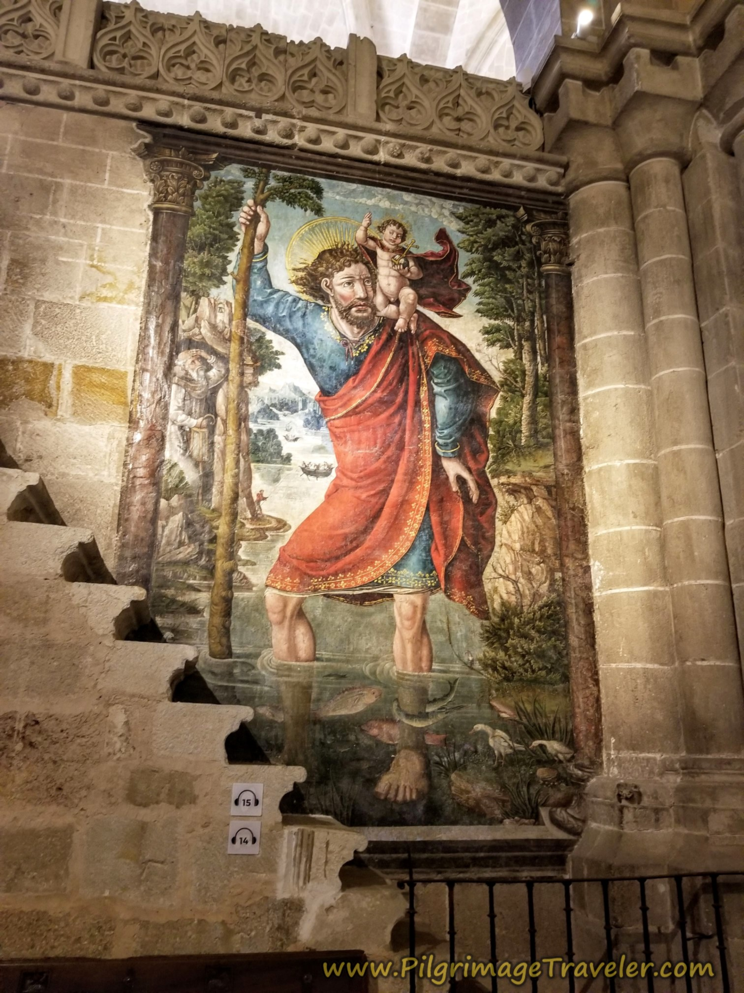Zamora Cathedral Mural, Fresco de San Cristóbal