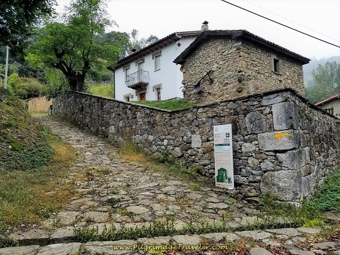 Pathway Uphill to the Santa Cristina de Lena Hermitage