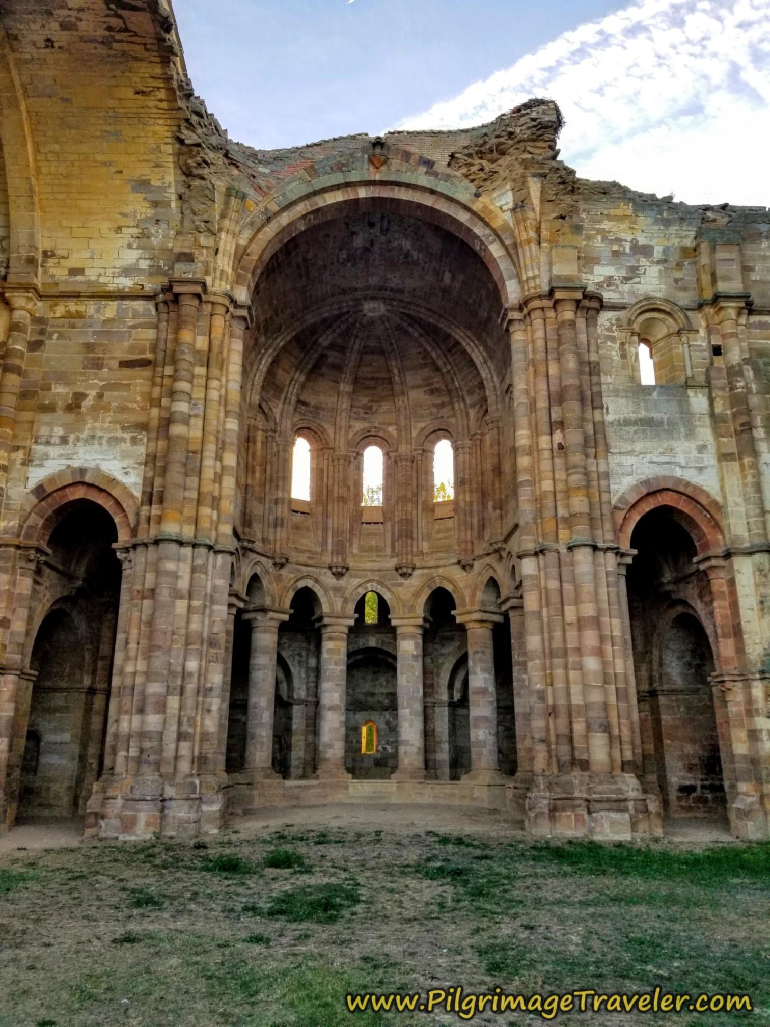 Ruined Interior Apse of the Church at the Moreruela Abbey on the Camino Sanabrés from Granja de Moreruela to Tábara
