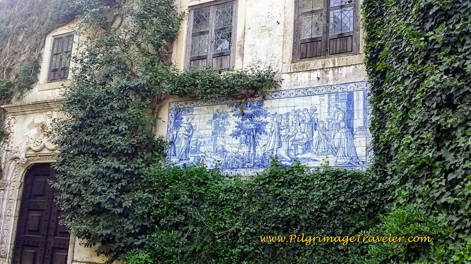 The Azulejo Mural on the Entrance to the Main House, Quinta da Cardiga, Portugal