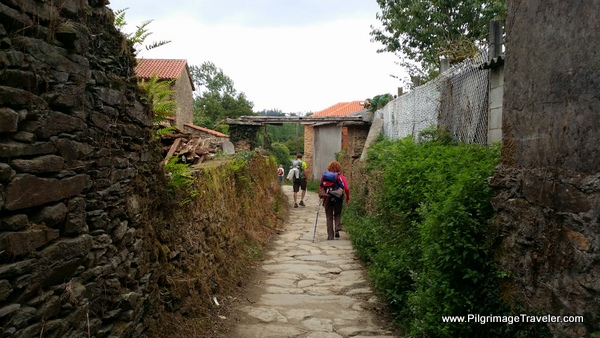 Walking Into A Calle on the Camino Frances