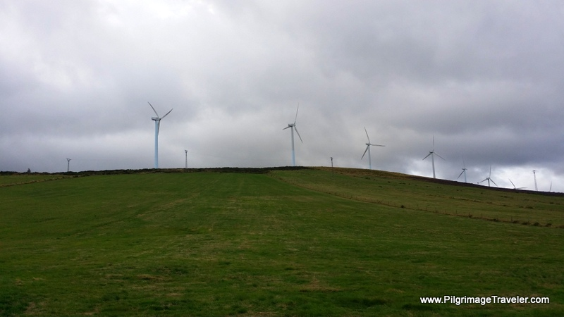 Windmills on the Ridge Above La Mesa, Spain