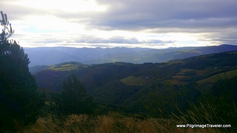The View to the Valley Below on our Left Shoulders on the Camino Primitivo