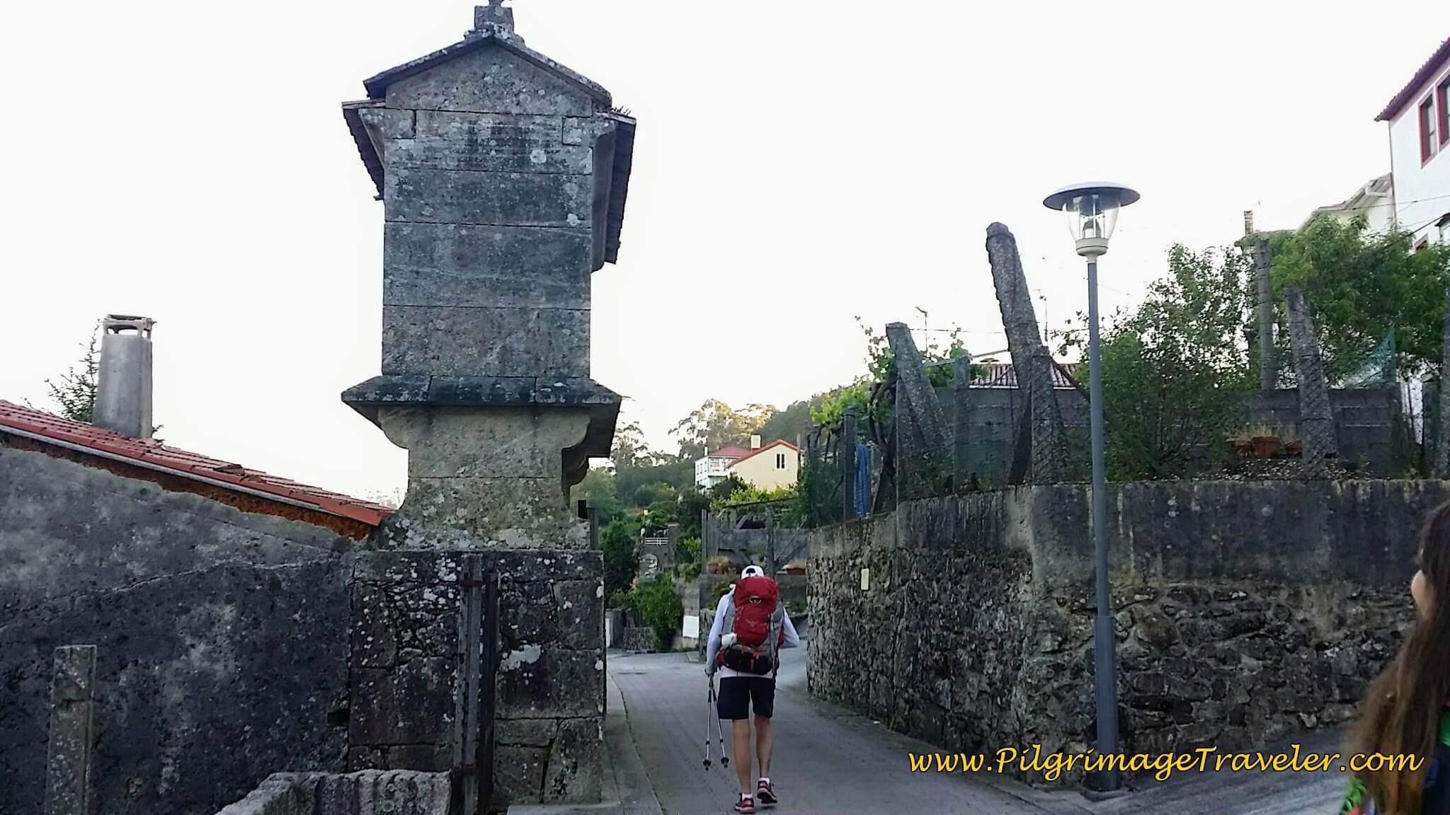 Hórreo Along the Rúa do Pilar in Pontecesures on Day Twenty-Four, Portuguese Way