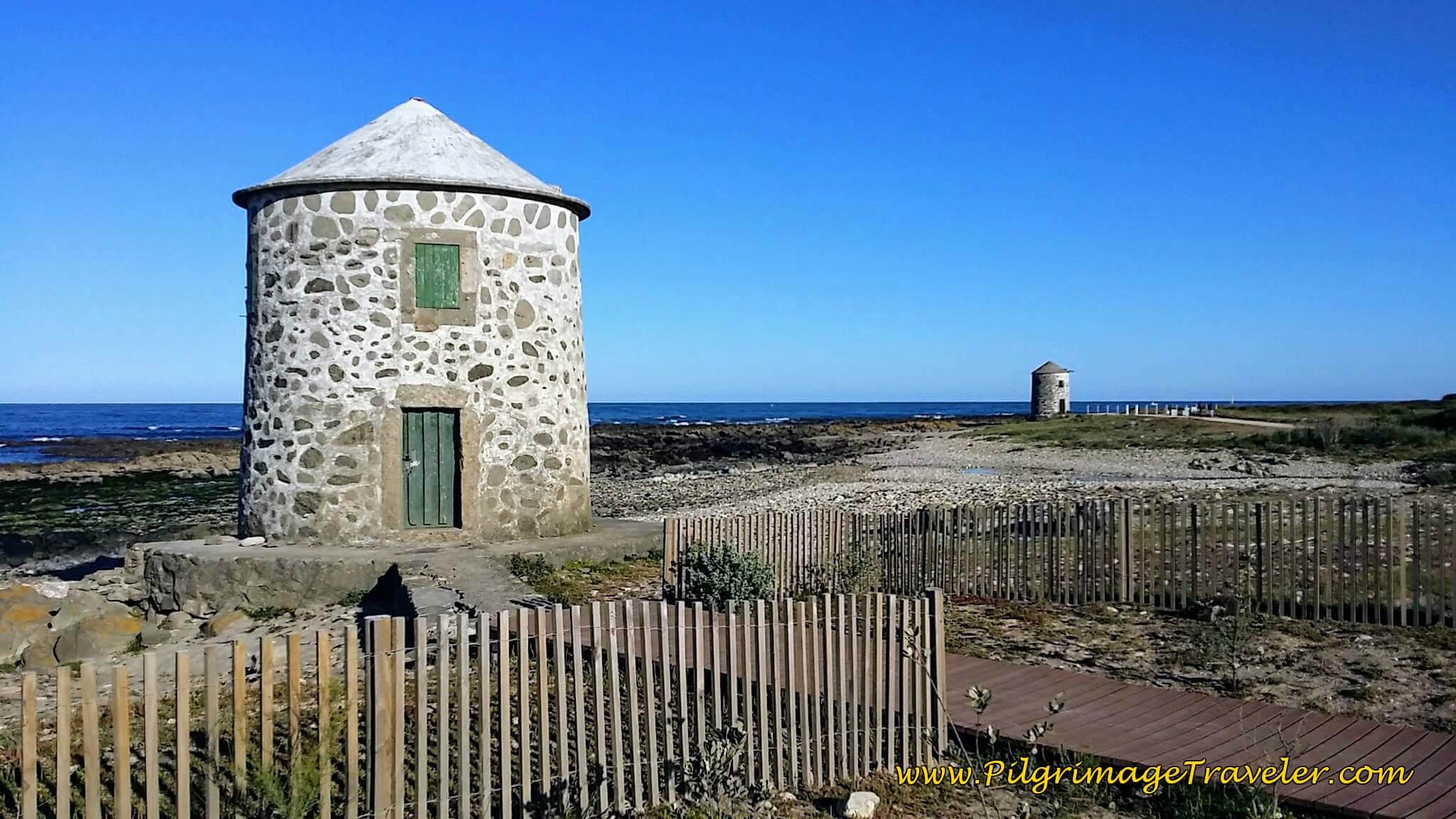 Close-Up of First Windmill, Areosa on day eighteen of the Camino Portugués on the Senda Litoral
