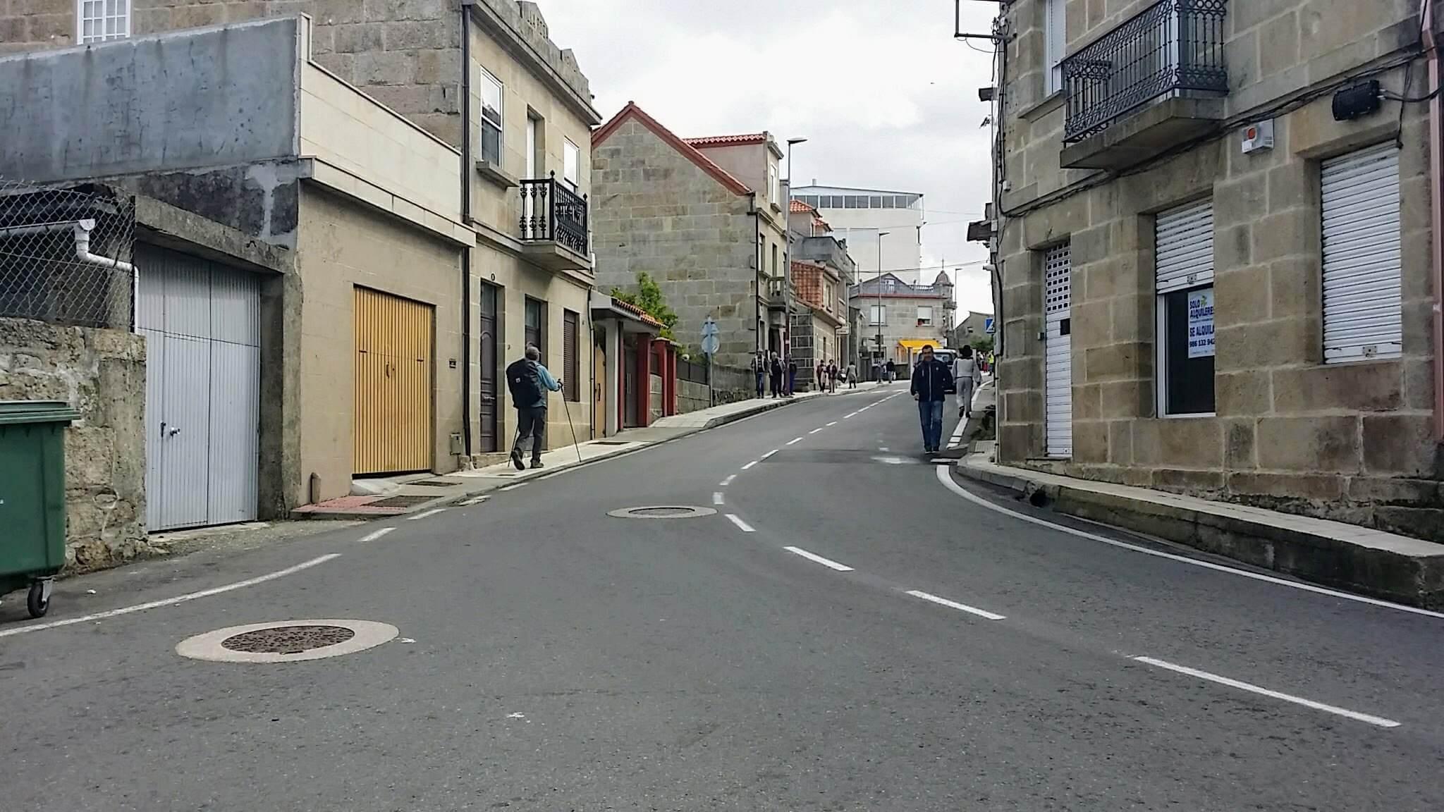 Right Turn on the Rúa de Leonardo Alonso on day twenty-one of the Camino Portugués