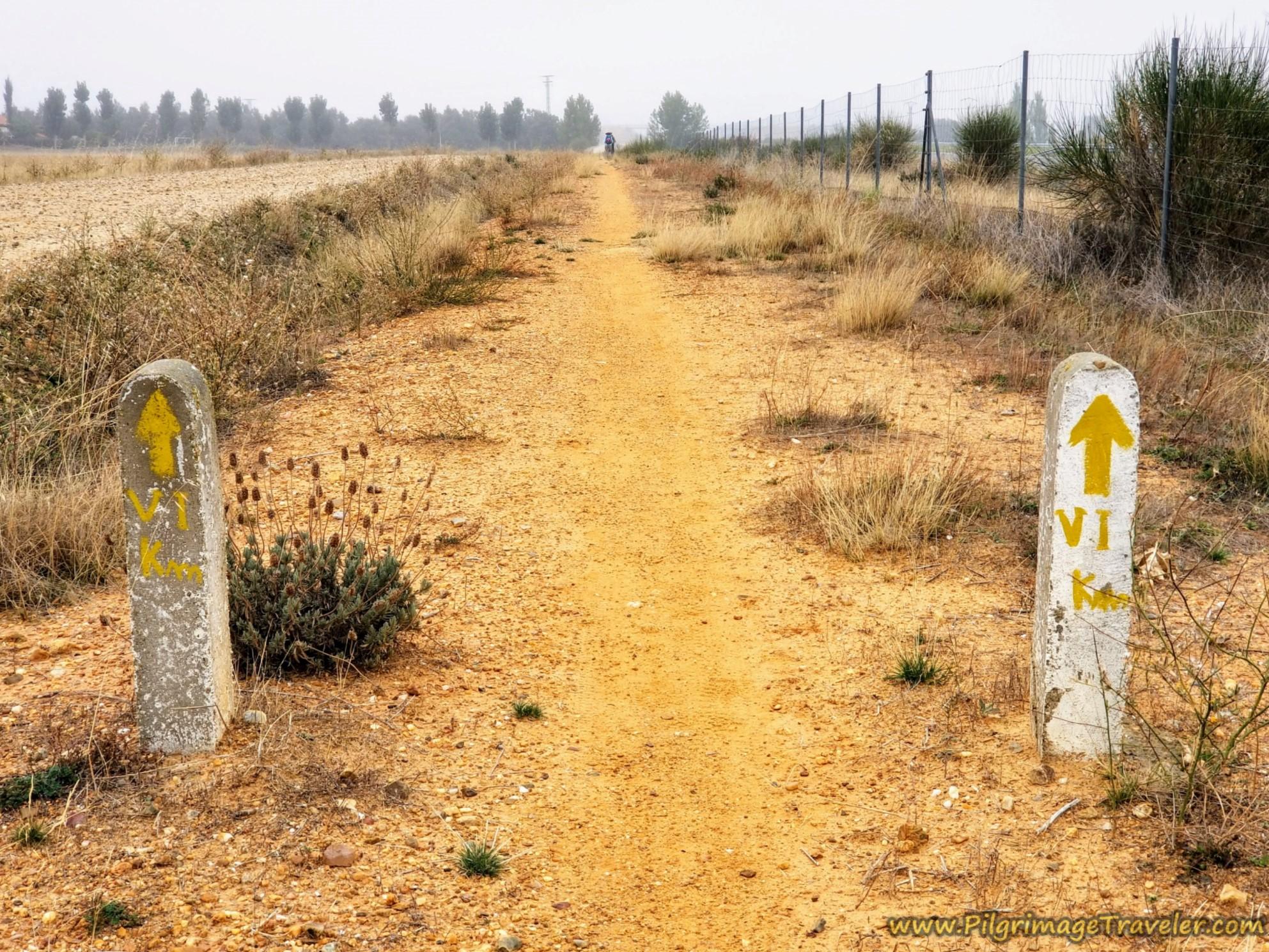 Six Kilometer Countdown to El Cubo de Tierra del Vino on the Vía de la Plata from Cañedino to Villanueva de Campeán